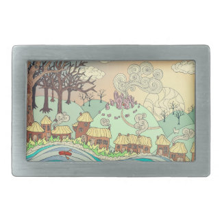 Fairyland upon the River Rectangular Belt Buckles