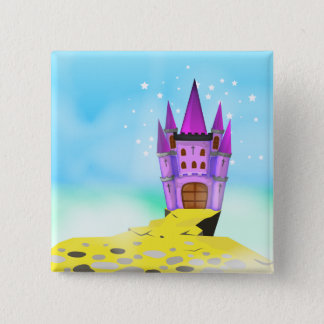 Fairytail Castle 15 Cm Square Badge