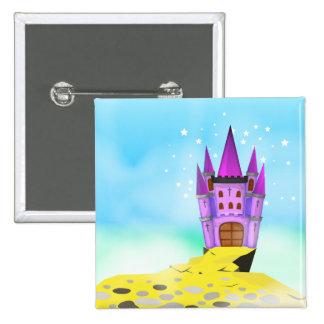 Fairytail Castle 15 Cm Square Badge