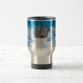 Fairytail Castle Winter Snow Travel Mug