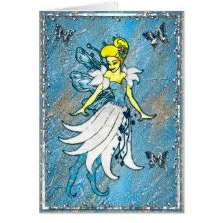 Fairytale Blue Fantasy Note Card