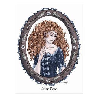 Fairytale Briar Rose Fantasy Art Postcard 2