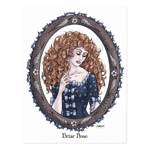 "Fairytale ""Briar Rose"" Fantasy Art Postcard #2"
