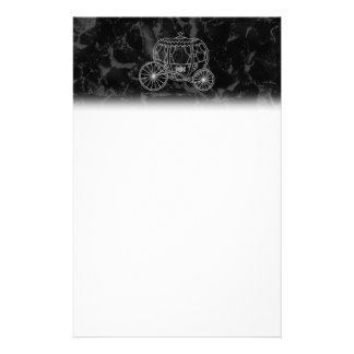 Fairytale Carriage Design in Black and Gray. Stationery