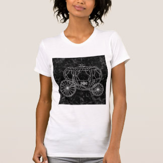 Fairytale Carriage Design in Black and Gray. T-Shirt