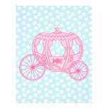 Fairytale Carriage Design in Pink and Blue. 21.5 Cm X 28 Cm Flyer