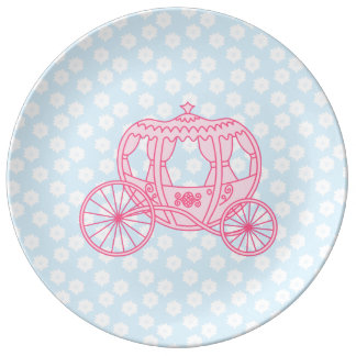 Fairytale Carriage Design in Pink and Blue. Plate