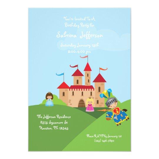 Fairytale Castle 5x7 Birthday Party Invitation
