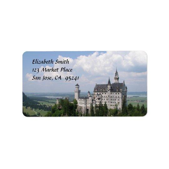 Fairytale Castle Address Labels