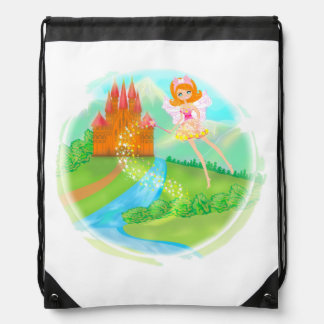 fairytale castle Drawstring Backpack