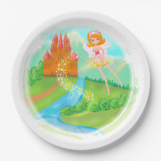 fairytale castle Paper Plate 9 Inch Paper Plate