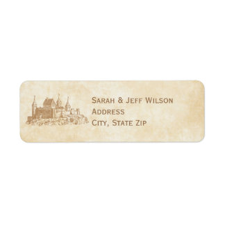 Fairytale Castle Return Address Labels