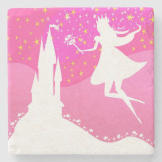 fairytale castle Stone Coaster