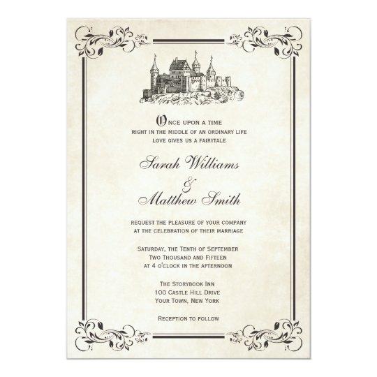 Fairytale Invitations Wedding: Fairytale Castle Wedding Invitations