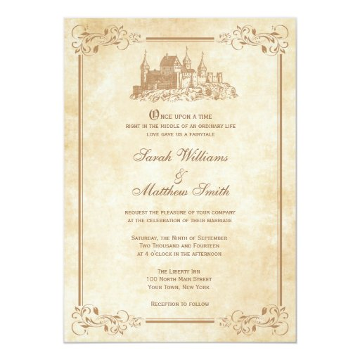 Wedding Invitations Castle Hill: Fairytale Castle Wedding Invitations