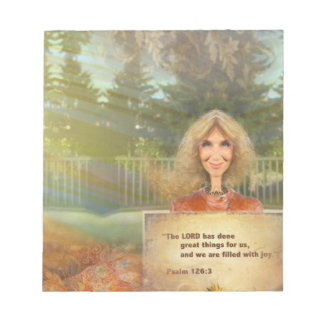 Fairytale Fall Psalm 120 Filled With Joy Notepad