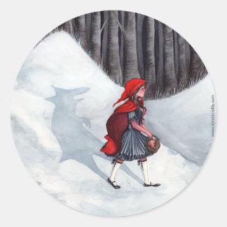Fairytale Fantasy Art Sticker - Wolf Within