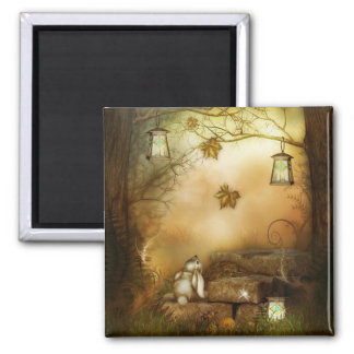 Fairytale Forest Square Magnet