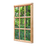 Fairytale Garden 3D Effect Window View Picture Gallery Wrapped Canvas
