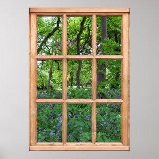 Fairytale Garden View from a Window Premium Print