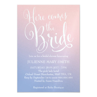 "Fairytale |  ""Here comes the bride"" Bridal Shower Card"