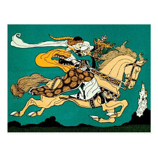Fairytale illustration postcard