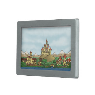 fairytale kingdom fantasy belt buckle
