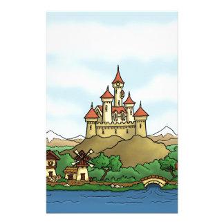 fairytale kingdom fantasy landscape personalized stationery