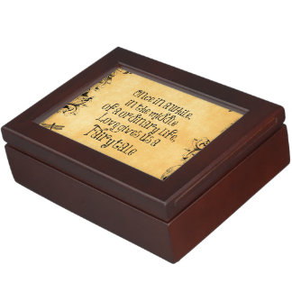 Fairytale Love Quote Vintage Antique Keepsake Box