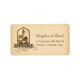 Fairytale Medieval Castle Wedding Return Address Label