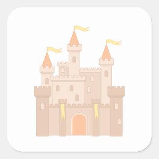 Fairytale Medieval Royal Princess Castle Square Sticker