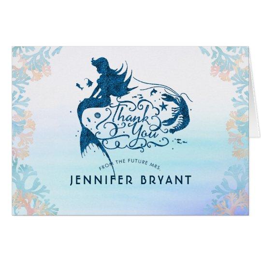 Fairytale Mermaid Under the Sea Thank You Card