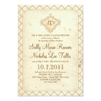 Fairytale Monogram Invitation