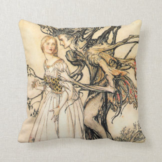 Fairytale Princess and Tree Elf Pillow