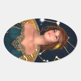 Fairytale Princess Oval Sticker