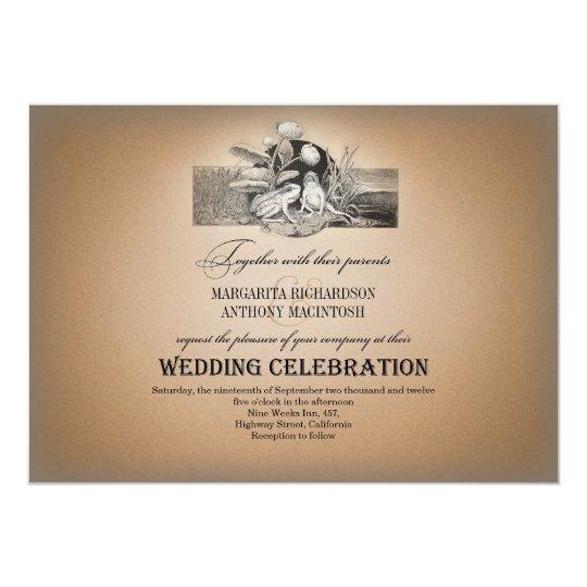 fairytale romantic vintage wedding invitations