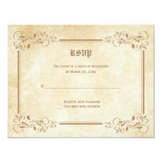 Fairytale RSVP Response Cards 11 Cm X 14 Cm Invitation Card