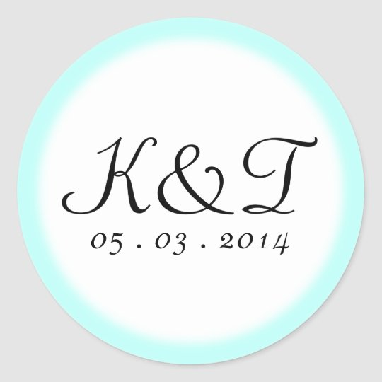 Fairytale Scroll Custom Wedding Classic Round Sticker