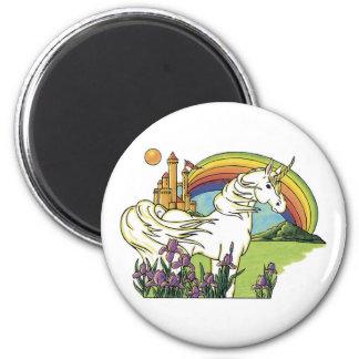 Fairytale Unicorn 6 Cm Round Magnet