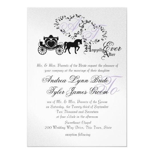 Fairytale Wedding Carriage Silver Card