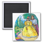 Fairytale Wedding Couple Refrigerator Magnets