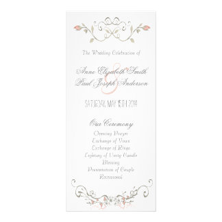 Fairytale wedding program III Rack Card Template