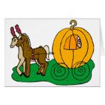 Fairytale Wedding Pumpkin Coach Greeting Card