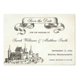 Fairytale Wedding Save the Date 13 Cm X 18 Cm Invitation Card