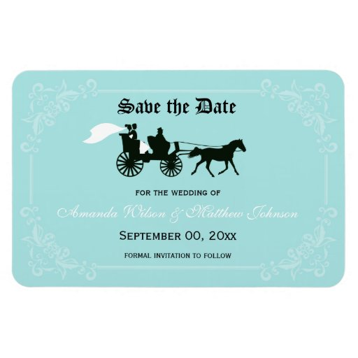 Fairytale Wedding Save the Date Magnets Rectangle Magnets