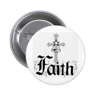 faith 6 cm round badge