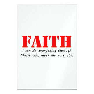 Faith 9 Cm X 13 Cm Invitation Card