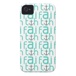 Faith Anchor Pattern iPhone 4 Case