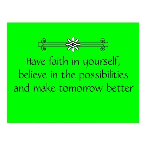 Faith and Belief Post Card