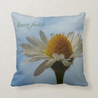 Faith and Daisy Throw Pillow